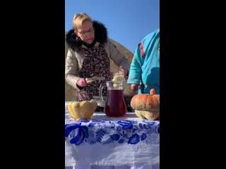 Глава Самары Елена Лапушкина на праздновании Широкой Масленицы