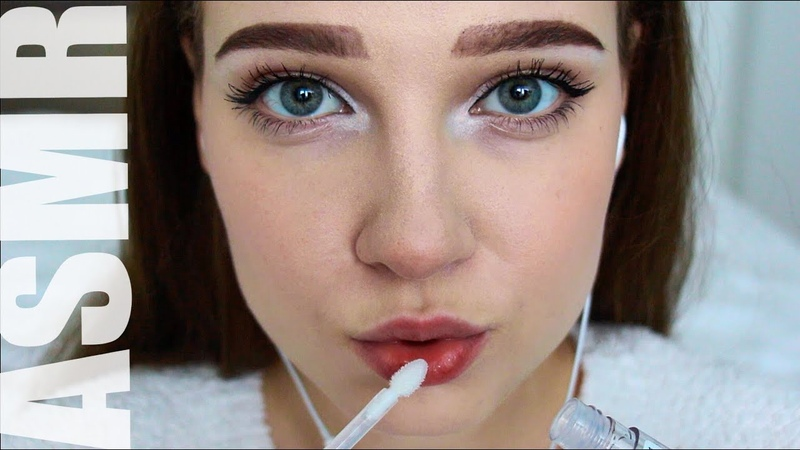 ASMR АСМР блеск для губ lip gloss Звуки рта mouth sounds close up Очень близко