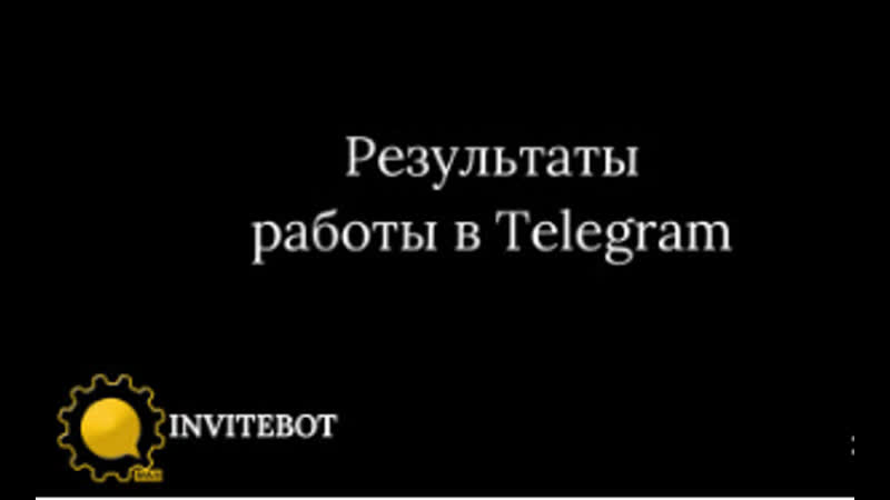 Результаты работы в Telegram