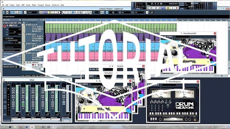 Virtual Scratch DJ VST Demo Video Maschine Cubase