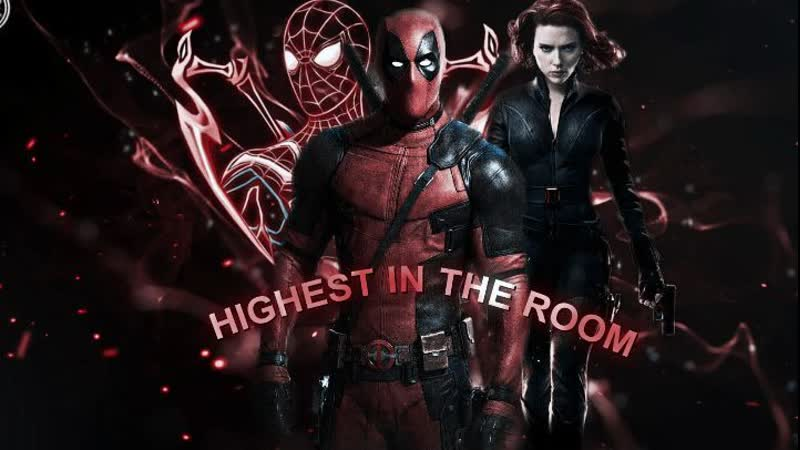 Deadpool x spider man x black widow marvel vine