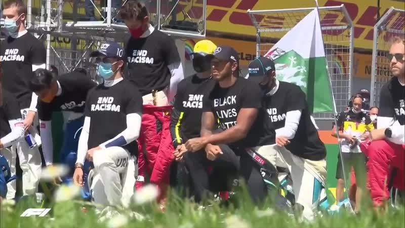 Шесть пилотов Формулы 1 отказались преклонить колено в знак протеста против расизма