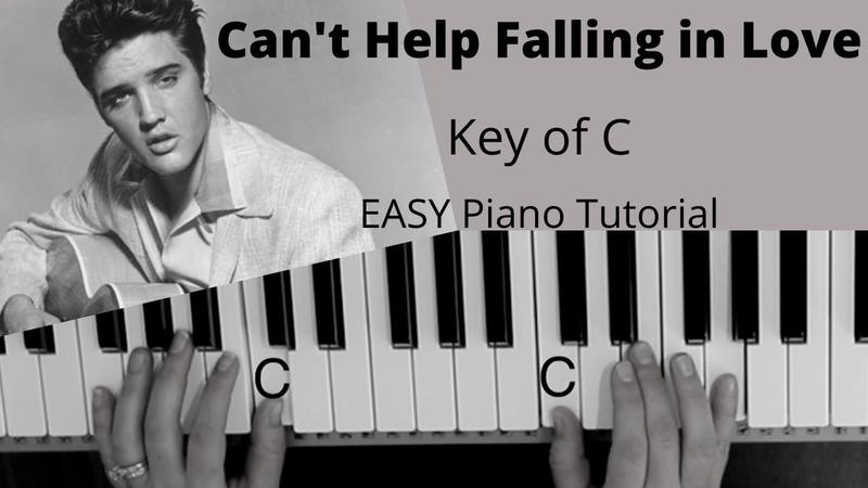 Can't Help Falling In Love Elvis Presley Key of C EASY Piano Tutorial