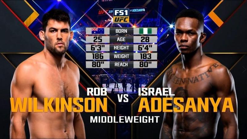 UFC Дебют Исраэль Адесанья vs Роб Вилкинсон
