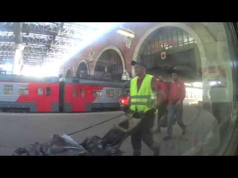 Казанский вокзал Перово из окна электропоезда