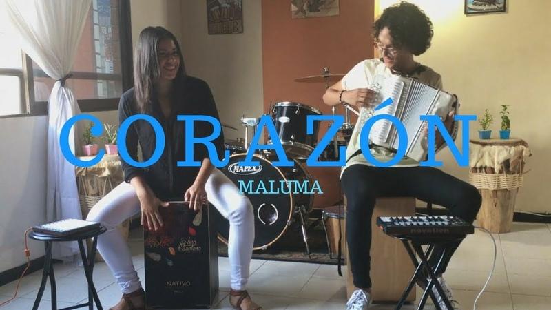 Corazón Maluma ft. Nego do Borel Acordeón y Cajón Cover Mulett ft. Lina Quintero