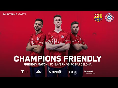 RELIVE today 17 00 CEST FC Bayern Esports FC Barcelona Champions Friendly