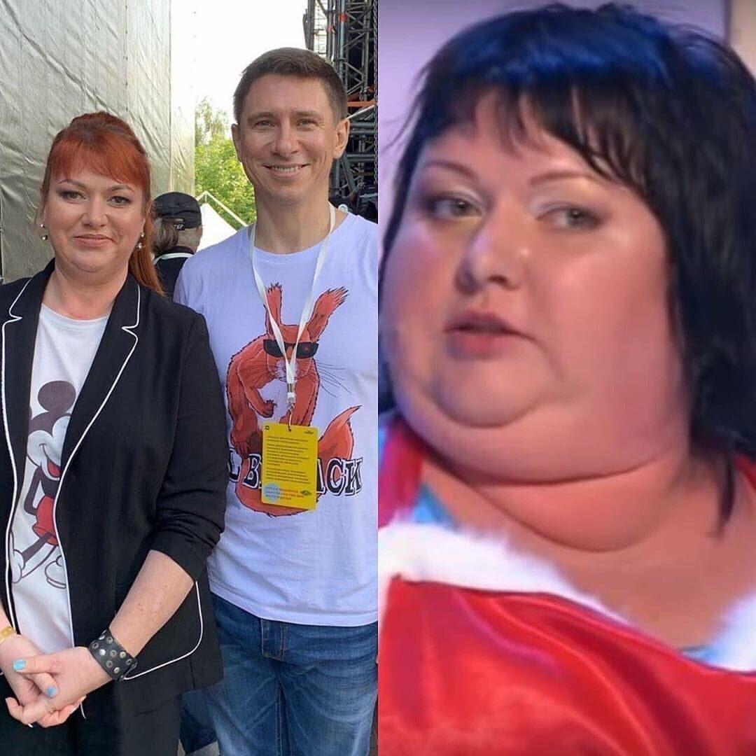 Похудевшая на 54 кг Ольга Картункова.