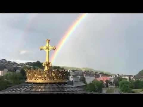 Arcobaleno a Lourdes questa mattina