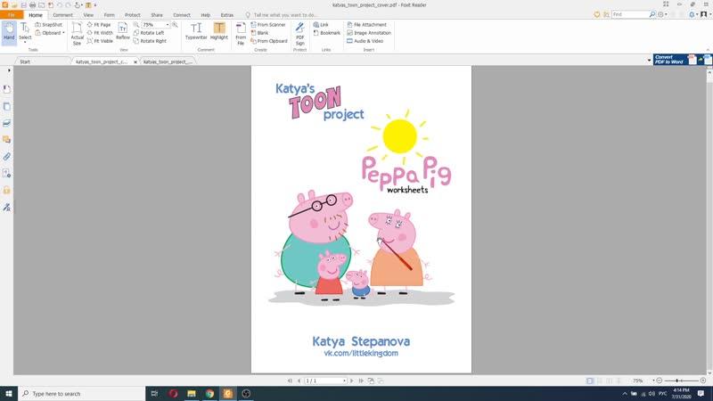 Katya's Toon Project Peppa Pig
