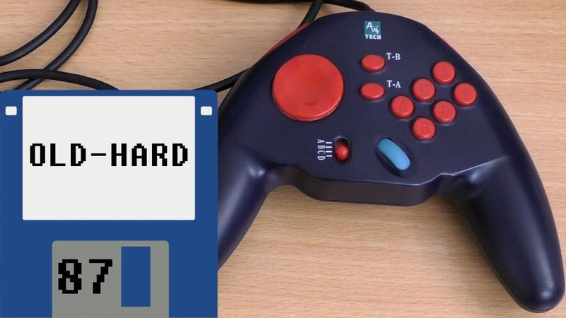 Геймпад для MS-DOS и Windows - A4Tech Wheel GamePad GP-11 (Old-Hard №87)