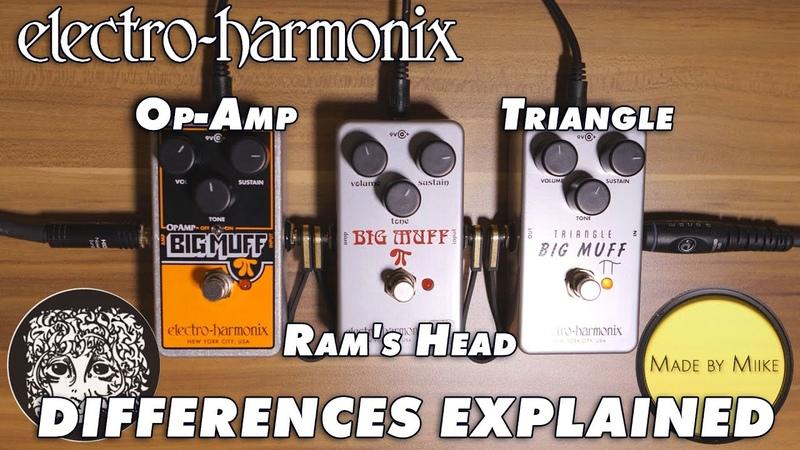 Electro Harmonix Op Amp vs Ram's Head vs Triangle Big Muff Differences explained