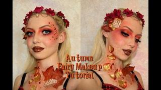 Autumn Fairy   Halloween Makeup Tutorial & Halloween Question Tag🍁🍂